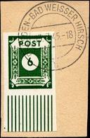 OST-SACHSEN 43AaI BrfStk, 1945, 6 Pf. Schwarzgelbgrün Volles Mittelstück, Ungezähnt, Prachtbriefstück, Mi. (50.-) - Sowjetische Zone (SBZ)