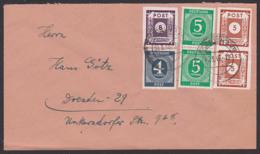 Germany OPD Ostsachsen Orts-Doppelbrief 4, 5 Pf. Ziffer Mit 5,8 Pf. SBZ 42, 44,30.3.46 - Portogenau - Sowjetische Zone (SBZ)