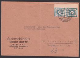 Germany OPD Ostsachsen Orts-Brief,  4 Pf. SBZ 53(2), 12.11.45 - Portogenau Reichspostporto,, Automobilhaus Kotte - Zone Soviétique