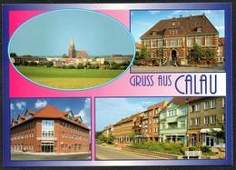 D1808 - TOP Calau Sparkasse Post Rathaus - Verlag Bild Und Heimat Reichenbach - Qualitätskarte - Calau