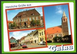 D1809 - TOP Calau Kirche Rathaus - Verlag Bild Und Heimat Reichenbach - Qualitätskarte - Calau