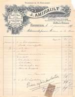 VP-GF.jmT-19-819 : FACTURE  PHARMACIE A. HERISSET. J. AMIRAULT. SAUMUR. MAINE ET LOIRE. - Non Classificati