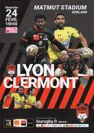 Programme Du Match De Top 14  LYON / CLERMONT Du 24 Fevrier 2019 - Rugby