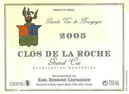 Etiquette Clos De La Roche 2005 Domaine Castagnier - Bourgogne