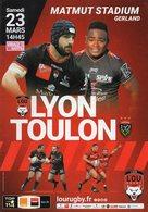 Programme Du Match De Top 14  LYON / TOULON Du 23 Mars 2019 - Rugby