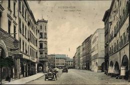 Cp Rosenheim Im Alpenvorland Oberbayern, Max Joseph Platz, Straßenpartie, Gasthaus Roi Otto - Alemania