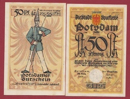 Allemagne 50 Pfenning Stadt Postdam  Dans L 'état N °5502 - [ 3] 1918-1933 : República De Weimar