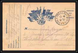 42602 Carte Postale En Franchise 7 Drapeaux AU CENTRE 1915 Secteur 140 Pour Hopital 101 Guerre 1914/1918 War Postcard - Marcophilie (Lettres)