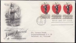 U.S.A. (1966) Johnny Appleseed. Addressed FDC With Official Cachet. Scott No 1317. - First Day Covers (FDCs)
