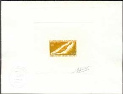 AFARS & ISSAS (1970) Afar Dagger. Die Proof In Brown Signed By The Engraver AUFSCHNEIDER. Scott No 338 - Afars Et Issas (1967-1977)