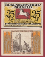 Allemagne 25 Pfenning Stadt Braunschweiger  Dans L 'état N °5508 - Collections