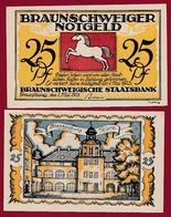 Allemagne 25 Pfenning Stadt Braunschweiger  Dans L 'état N °5510 - Collections