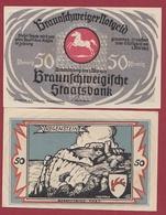Allemagne 50 Pfenning Stadt Braunschweiger  Dans L 'état N °5511 - Collections