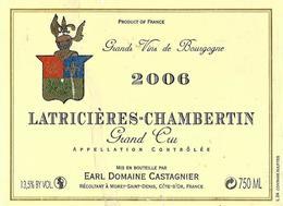 EtiquetteLatricières Chambertin Domaine Castagnier 2006 - Bourgogne