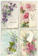 4 Kaarten Ca 1910 - Reliëf Embossed Gaufrées - Niet Verstuurd - Fleurs