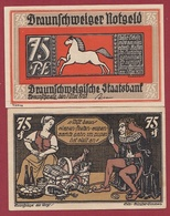 Allemagne 75 Pfenning Stadt Braunschweiger  Dans L 'état N °5516 - Collections
