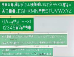 3 Normographes Original Sander Normografo N.14 + Linear N°7 + Linear N°10 Dans La Boîte En Carton D'origine - Andere Verzamelingen