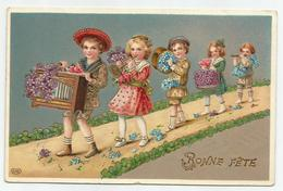 Bonne Fête - Reliëf Embossed Gaufrée - Verstuurd 1911 - Feiern & Feste