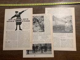 1907 LPT NOS ANCIENS JEUX RETOUR D ANGLETERRE TENNIS DIABOLO - Vieux Papiers