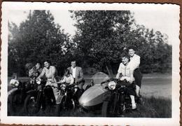 Photo Originale Moto & Side-Car Steib S 500 - Amusante Photo De Famille Sur De Terribles Machines - Ciclismo