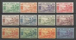 NOUV-HEBRIDES Serie N° 112 à 123 NEUF* LEGERE TRACE CHARNIERE ET OBL / LE N° 120 -122 Sont ** LUXE / MH / Cote 285€ / N° - Unused Stamps