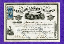 T-US The Maysville & Lexington Rail Road 1872 Kentucky - Chemin De Fer & Tramway