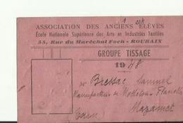 ASSOCIATION DES ANCIENS     ELEVES   ROUBAIX GROUPE TISSAGE    1948 - Théatre & Déguisements