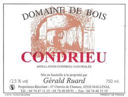 Etiquette Condrieu Domaine De Bois Ruard Gérald - Blancs
