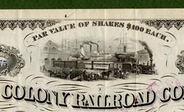 T-USA Old Colony Railroad Company, Boston 1884 - Chemin De Fer & Tramway