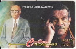 "ST. LUCIA ISL.(GPT) -  St. Lucian""s Nobel Laureates, CN : 2330CSLA(normal 0), Tirage 10000, Used - Santa Lucía"