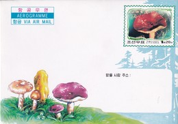 Korea 2002 Postal Stationery Aerogramme; Mushrooms; Fungi; Pilze; - Mushrooms