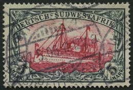 DSWA 23 O, 1901, 5 M. Grünschwarz/bräunlichkarmin, Ohne Wz., Pracht, Mi. 200.- - Colonie: Afrique Sud-Occidentale