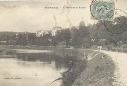 Saint Mihiel   La Meuse Et Les Roches  Avec   Pecheurs - Saint Mihiel