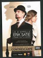 """CPM Non-postable """"Je M'appelle Erik Satie Comme Tout Le Monde"""" Théatre De La Contrescarpe - Paris - Theatre"""