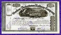 T-USA Goshen And Deckertown Railway Company 1841 - Chemin De Fer & Tramway