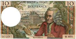 10 FRANCS-VOLTAIRE-2.7.70 SPL- Alph W.605 (1epinglage) - 1962-1997 ''Francs''