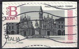 Italie 2016 Oblitéré Used Turin La Piazza San Carlo Torino Sur Fragment SU - 2011-...: Usati