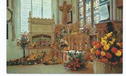 Essex Postcard Dedham St.mary's Church Unused Harvest Festival. - England
