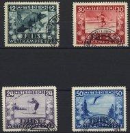 ÖSTERREICH 551-54 O, 1933, FIS I, Sonderstempel, üblich Gezähnter Prachtsatz - Gebraucht