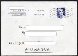 Frankreich 2015  Brief / Letter/ Lettre  20g  Europa ,  MiNr. 6294  70. Jahrestag Der Beendigung Des II.WK, Marianne - France