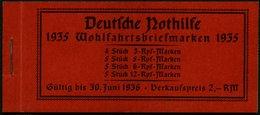 ZUSAMMENDRUCKE MH 41 **, 1935, Markenheftchen Trachten, Feinst (Zierfeld Kleiner Stockfleck), Mi. 180.- - Zusammendrucke