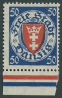FREIE STADT DANZIG 200xa **, 1924, 50 Pf. Dkl`ultramarin/zinnoberrot, Postfrisch, Pracht, Mi. 90.- - Danzig