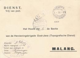 Nederlands Indië - 1930 - Portvrije Dienstkaart Van LB SOEMBERPOETJOENG Naar LB Malang - Indes Néerlandaises