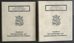 PHIL. KATALOGE Arge Schleswig-Holstein, Hamburg Und Lübeck: Handbuch Der Poststempel Und Handschriftlichen Ortsangaben I - Philatélie Et Histoire Postale