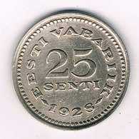 25 SENTI 1928 ESTLAND /11/ - Estonia