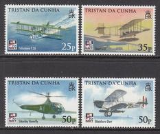 2009 Tristan Da Cunha  Naval Aviation Aircraft Military Complete Set Of 4 MNH - Tristan Da Cunha