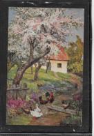 AK 0397  Ländliche Idylle Mit Hühnern Und Enten - Künstlerkarte Um 1910-20 - Vögel