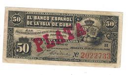Cuba 50 Centavos 1896. PLATA. VF+. Scarce. - Cuba