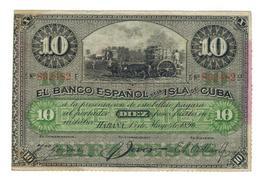 Cuba 10 Pesos 1896. PLATA. VF+. (6 Dig.) - Cuba