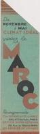 MP1 - MARQUE PAGES SIGNET - VISITEZ LE MAROC - CHEMINS DE FER DU MAROC - Marque-Pages